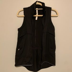Lululemon Black Lightweight Vest Zip Up